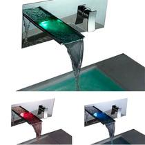 Llaves Para Baño Con Led Grifo Lavabo Cambia De Color Vv4
