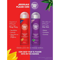 Lubricante Sico Play Gel Massage 2 In 1 Pack 6 Pz