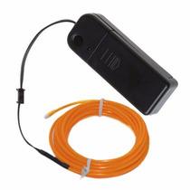 Hilo Led El Wire 3 Mts + Dimer 3 Funciones + 2 Baterias Aa
