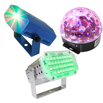 Kit Luces Disco Audio Rítmico Dj Efectos Bola Led Lasermini