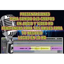 Logos 3d, Para Pantalla De Video Sonideros, Djs, Gr Hd