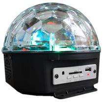 Esfera Disco Luz Rgb Entradas Usb Sd Y Reproductor Mp3 15w.