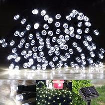 Serie De 100 Luces Led Solar De 17 M!! Importado!