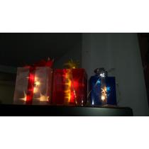 Serie Luces Led Regalos Navideños, Juego De 3 Decora Navidad