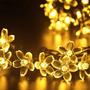 Luces Flores Solares 21ft 50 Led Calido Para Decoracion