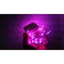 Luces 10m 100 Led Focos Rosa 110v Navidad Fiesta Quinceaños