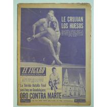 1954 El Santo Y Blue Demon Periodico El Figaro Lucha Libre