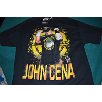 Playera Wwe John Cena - Hustle Loyalty Respect - (talla L)