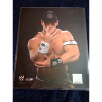 Wwe Foto 8 X10 De John Cena Con Mica Protectora