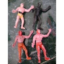 Luchadores De Plástico, 2 De Los 80´s, 90´s Marca Pato