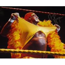 Poster Autografiado Firmado Hulk Hogan Wwe Hulkamania Wwf