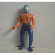 Blue Demon - Luchador Plastico Inflado - Muñeco De Juguete