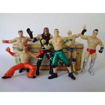 Luchadores Wwe 10 Cms Bootleg. Rey Misterio, Kane, Sheamus..