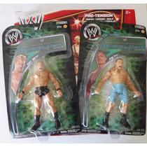 Ring Y Figuras Wwe. John Cena Y Crhis Jericho. Lote 3 Piezas
