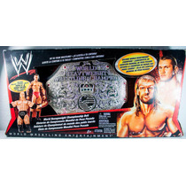 Wwe World Heavyweight Championship Cinturon Con 2 Figuras