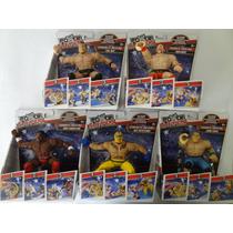 Luchadores Wwe Power Slamers Rey Misterio, Sheamus. 5 Piezas