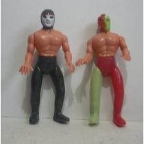 Octagon Y Dr Wagner - Cmll Luchador Plastico Inflado Juguete