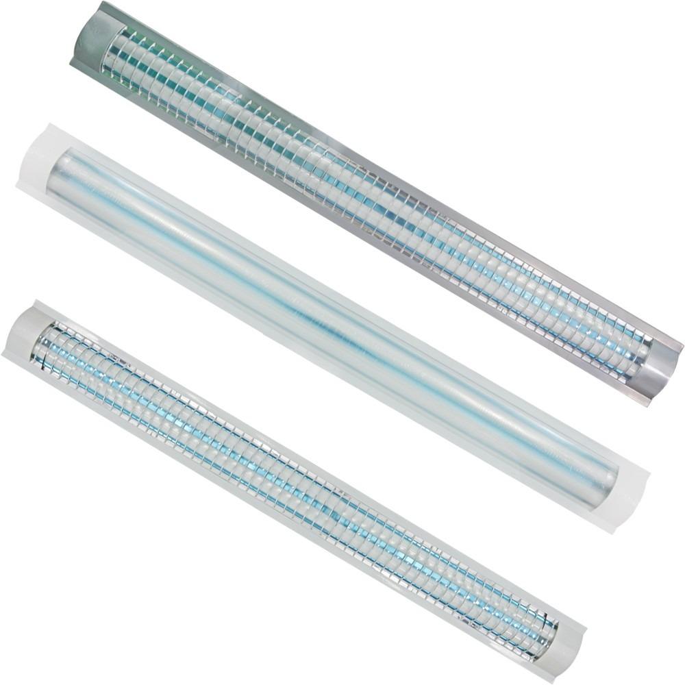 Luminario t8 plano rejilla acrilico 2 lamparas - Fluorescentes de led ...