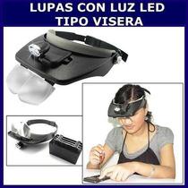 Lupa Con 3 Luces Led Manos Libres Lentes Pilas De Regalo Vv4