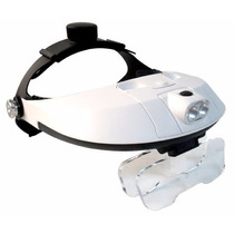 Lupa Optovisor 1-3.5x Con 2 Leds Desmontables Pilas Gratis