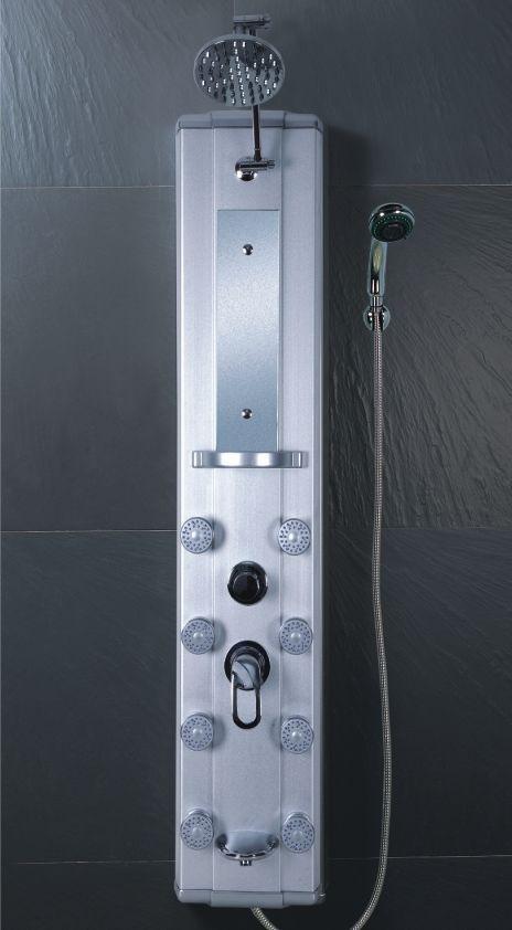 Regadera De Baño Moderna:Maa Panel De Regadera 8 Hidrojets En Aluminio Moderno Diseño – $