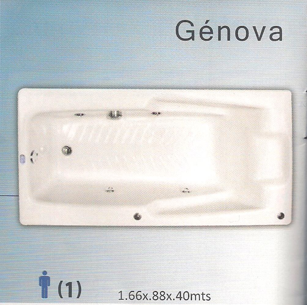 Tinas De Baño Tamanos:Maa Tina De Baño Sin Hidro Izuzzu Genova Para 1 Pers – $ 4,50853 en