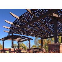 Panel Decorativo Metal Celosia Sombra Jardin Divisiones