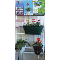 Macetas De Barandal - Plantas Flores Jardin Colgante