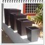 Maceta Fibra Vidrio Trapecio Obelisco Minimalista Moderna