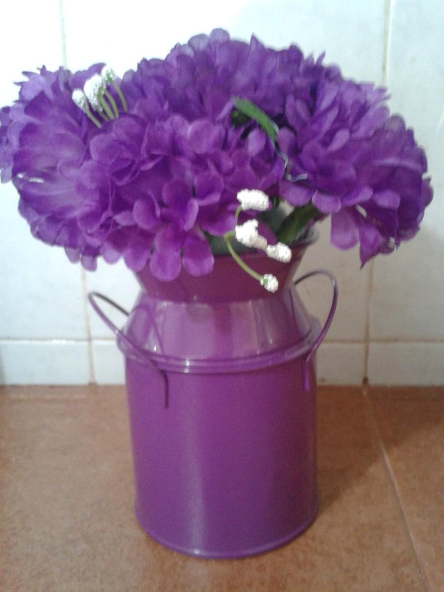 macetas lecheras con flores artificiales mdn en