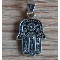 Poderoso Amuleto Mano De Hamsa O Fatima En Chapa De Oro