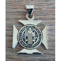 Cruz De San Benito En Chapa De Oro, Máxima Protección Divina
