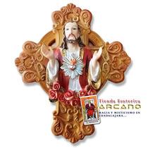 Crucifijo Con Sagrado Corazón De Jesus