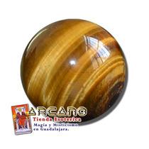 Esfera De Cuarzo Ojo De Tigre - 2.5 Cm De Diametro