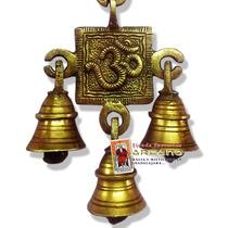 Campana De Viento Bronce Puro Simbolo Om - 100% Hindu