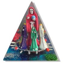 Piramide De La Santa Muerte - Con 7 Colores En Fina Resina