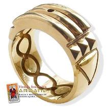Anillo Atlante Realzado/orignal Oro 14 K.