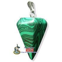 Pendulo Malaquita Facetado - 3 Cm Con Manual De Uso.