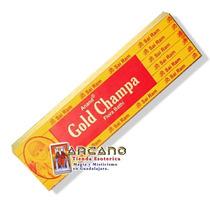 Incienso Gold Champa Flora Bathi - 5 Paquetes De 12 Varitas