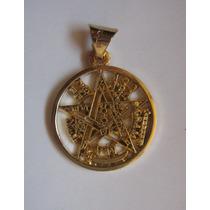Tetragramaton O Pentagrama Dije Chapa De Oro 18 K