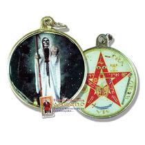 Medalla De La Santa Muerte - 4.5 Cm Diametro