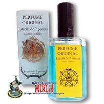 Perfume Y Talisman Estrella De 7 Puntas - Buena Suerte