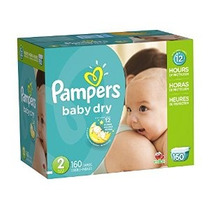 Pampers Baby Dry Pañales Paquete Gigante Tamaño 2 160 Conde