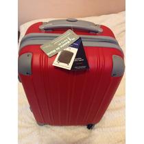 Maleta Rígida Para Viaje | Harly Aimes Roja, Plástico Abs