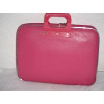 Maleta Bolsa Porta Laptop Rosa Semi Piel