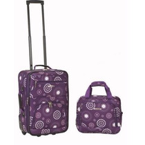 Set 2 Piezas Maleta Maletin De Viaje Rockland Purple Pearl