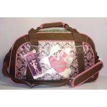Amplia Maleta Petaca Pantera Rosa Chenson, Pink Viaje Op4