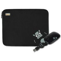 Kit Funda Y Mouse Usb Negro Perfect Choice P/ Netbook 10pulg