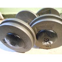 Mancuernas Profesionales 76kgs No 38 Gym Pesas Un Par