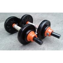 Mancuernas Con Disco 49.4 Kgs No25 Gym Pesas Un Par